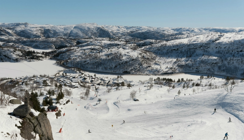 Sirdal Skiresort, Tjørhomfjellet and Ålsheia skiresorts, Sirdal, Norway